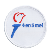 Verkrijgbaar bij ScoutShop: Badge 4-5 mei